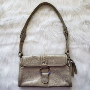 Eileen West tooled leather handbag small